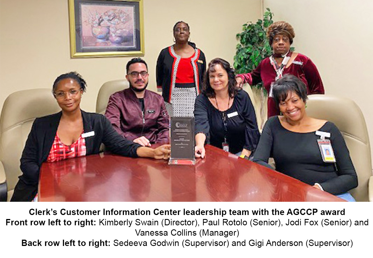 Pinellas Clerk's Customer Information Center Wins National Award
